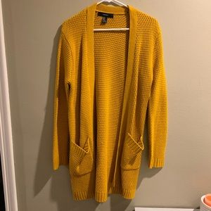 Forever 21 mustard yellow cardigan